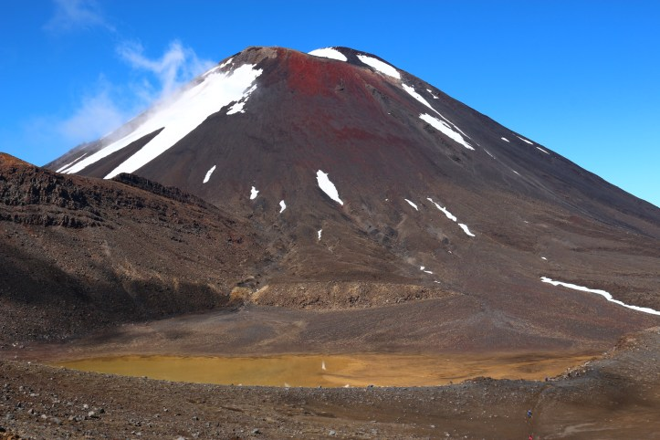 Mount Ngauruhoe, the stand-in for the Mount Doom. Tongariro Alpine Crossing, New Zealand