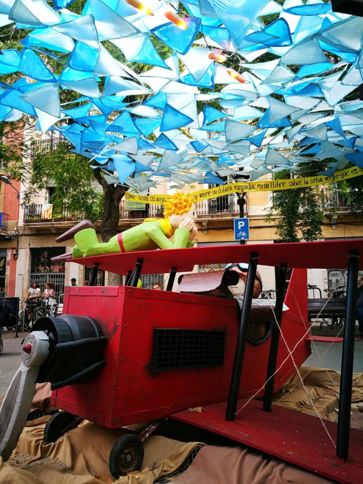 Fiesta de Gracia Barcelona - Little Prince themed street