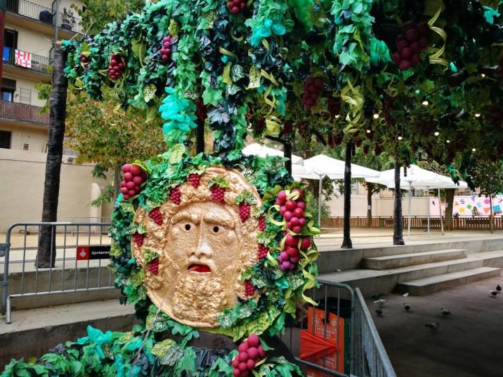 Fiesta de Gracia Barcelona - oenologic theme decorations