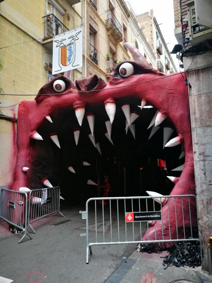 Fiesta de Gracia in Barcelona, street decorations