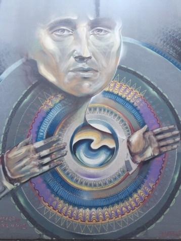graffiato street art, Taupo: woman ancestor