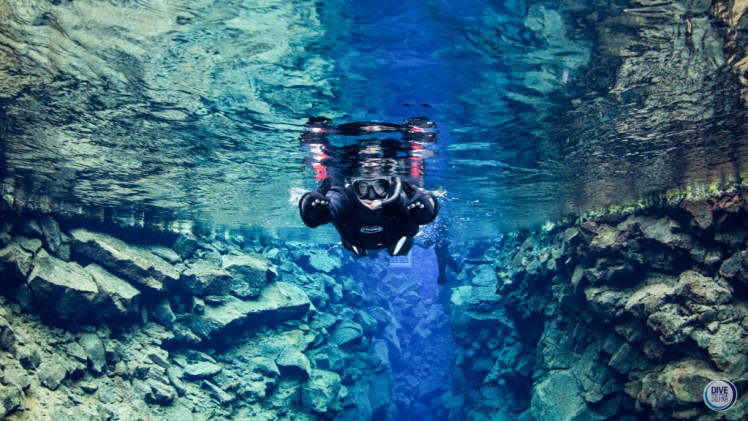 Snorkeling in Silfra fissure, Iceland