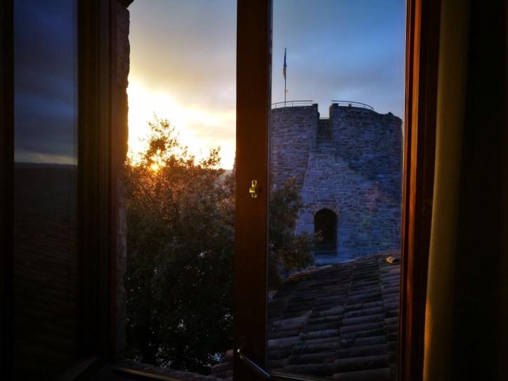 parador de cardona torre de la myniona at sunset