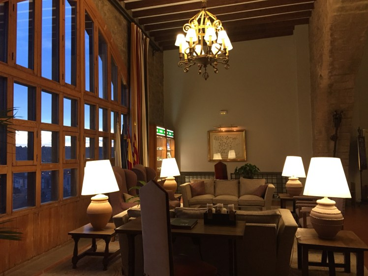 Parador de Cardona reception area