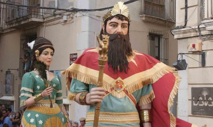 santa maria del mar gegants king solomon and queen Sheeba