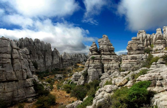 panorama of torcal de antequera in Andalusia, Spain