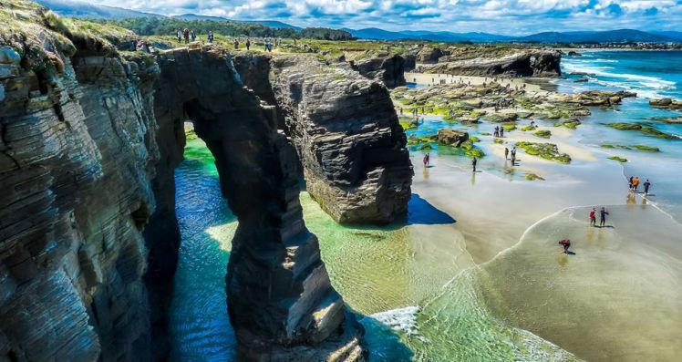 Praia das Catedrais Asturias, Spain. world's most beautiful beaches
