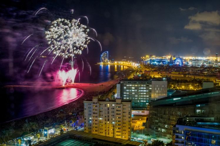 san juan in barcelona fireworks