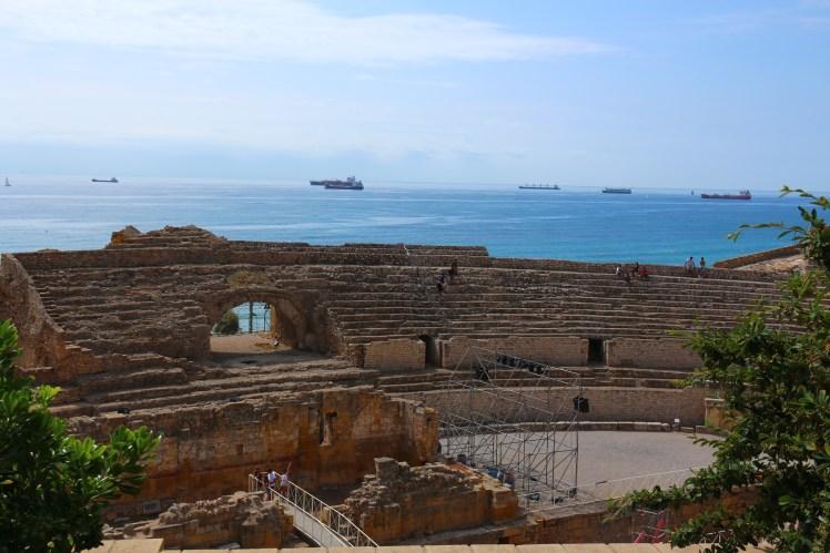 Panoramic seaview from the Tarragona Roman Amphitheater