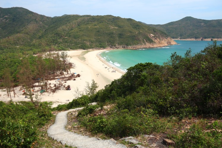 Secluded beach on the MacLehose trail section 2