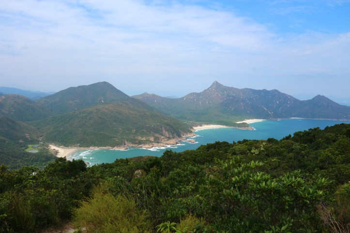 Hong Kong hiking: MacLehose Trail Section 2, panorama view over the beaches