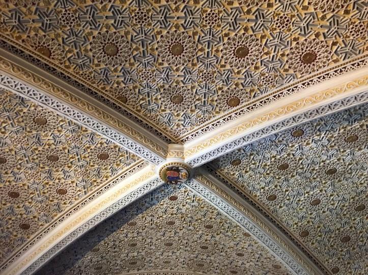Palacio de Pena vaulted ceiling