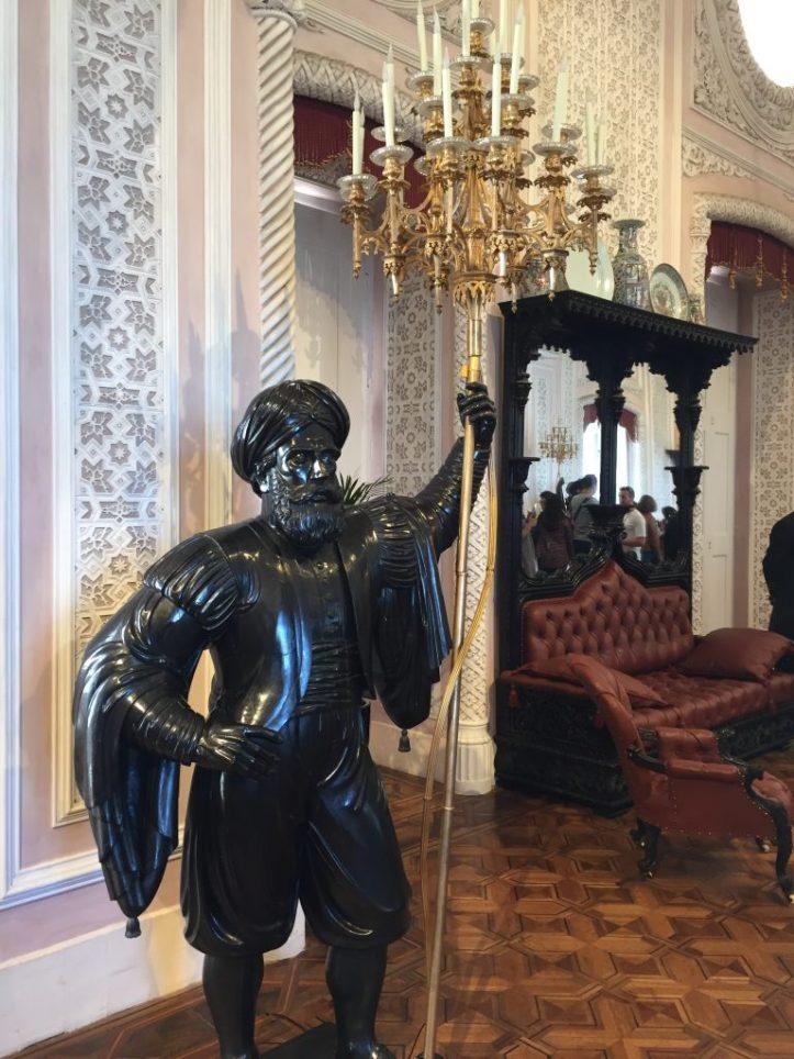 palacio de pena interior indian statue