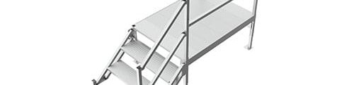 Portable Aluminum Stairs For Mobile Offices Upside Innovations   Portable Steps With Handrail   3 Step   Free Standing   Camper   Stair   Safety Step Ladder 4 Step