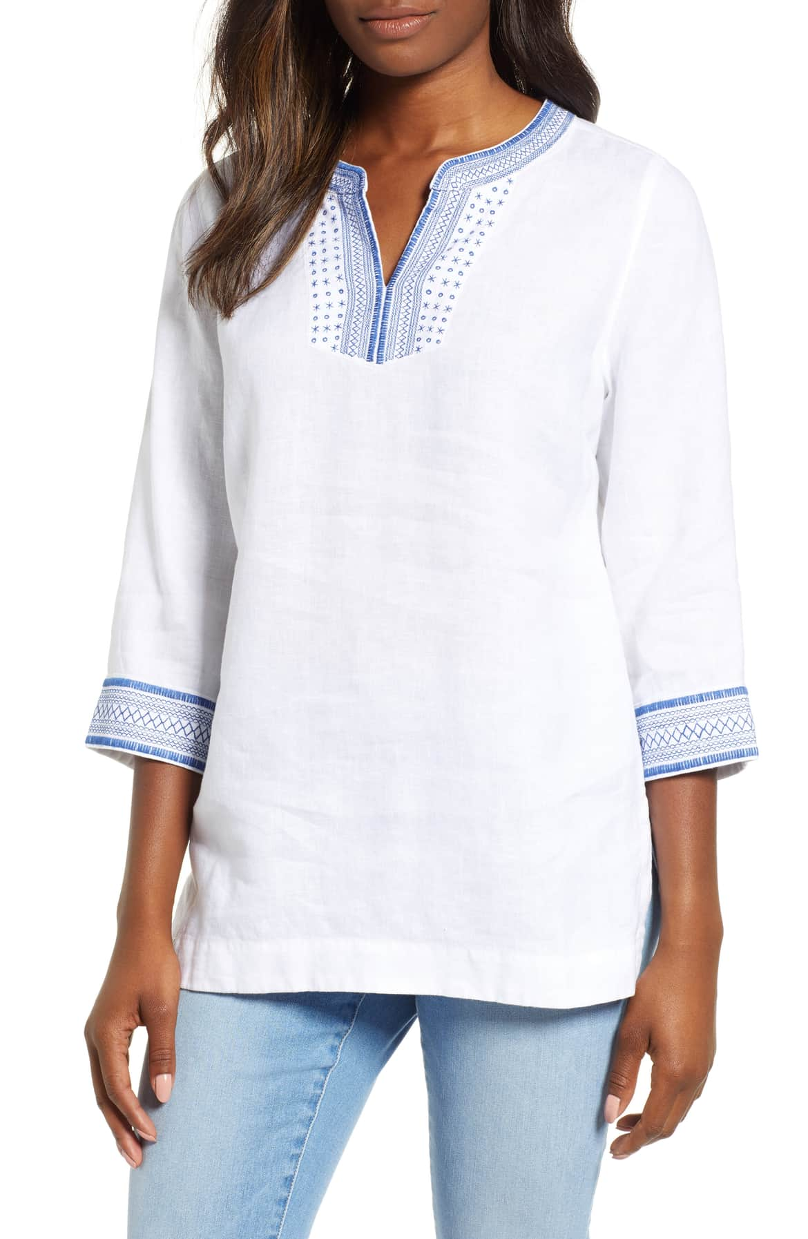 tommy bahama palmbray embroidered linen tunic