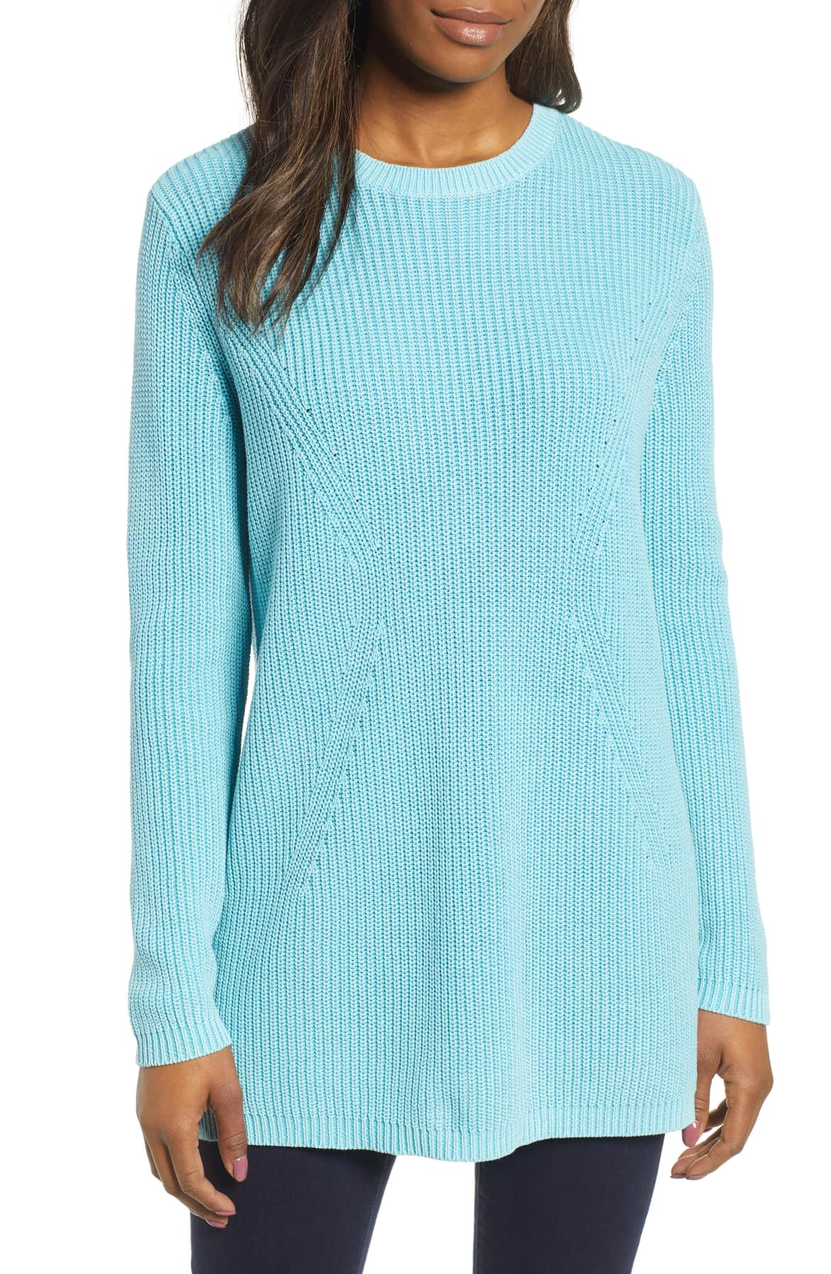 caslon tie-back tunic sweater