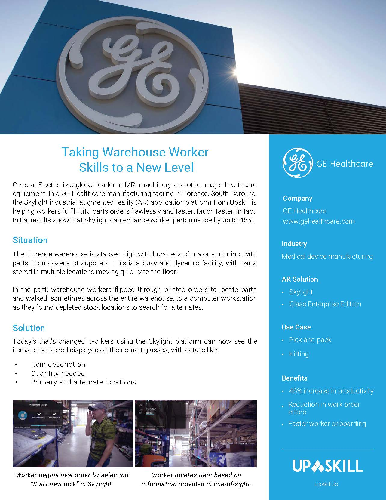 Taking Warehouse Worker Skill to a New Level with Augmented Reality