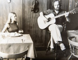Jim Hollan, owner of The Dove, and waitress Terry Griest pose for a photo at the Dove in 1976. Photo courtesy of Jim Hollan