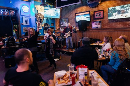 Large crowds come out to see the OCDC band play at Stan and Joe's South on January 13, 2018.