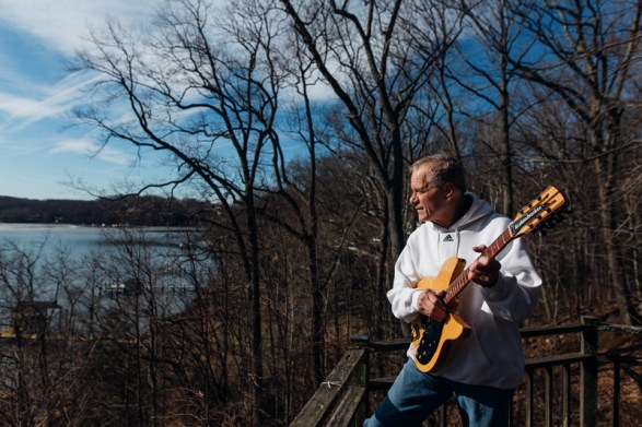 Russell Stone's first guitar was a Gibson J-45 that his father bought him for $150 at the time. His father was really encouraging of his music and all the Stone siblings played guitar at some point.