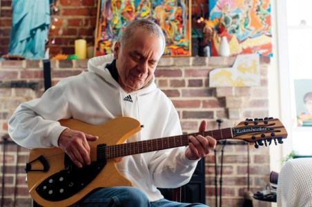 """Russell Stone was born in Connecticut and moved to Annapolis in 1968. Started playing when he was 12 years old on his mother's old """"crummy"""" guitar as he calls it."""