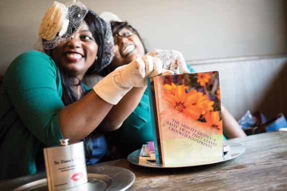 "Willnona and Jade at Dry 85 in Annapolis disscussing their book, ""The Miss-Fit Guides: A Sassy Sway That Leaves Crooked Footprints"" [2018]"