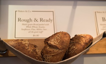 "Freshly baked ""Rough & Ready"" bread at Bakers and Co. in Eastport. Photo by Alison Harbaugh"