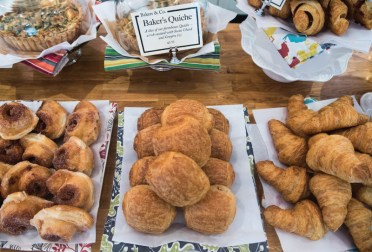 A selection of pastries out for the morning customers at Bakers and Co. in Eastport. Photo by Alison Harbaugh