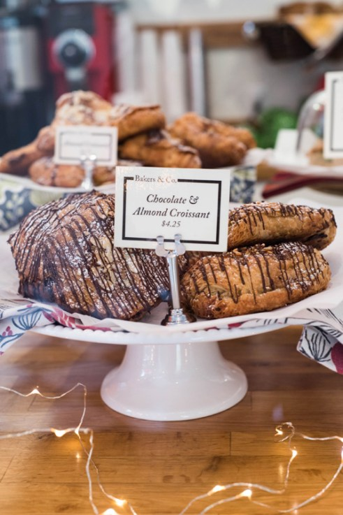 Bakers and Co. Chocolate and Almond Croissants. Photo by Alison Harbaugh
