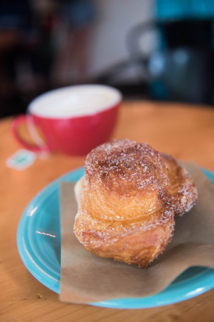A Market Bun and a cup of tea makes for a wonderful morning treat at Bakers and Co. in Eastport. Photo by Alison Harbaugh