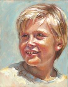 Sandy Cohen - Sunny Boy, oil, 14x11
