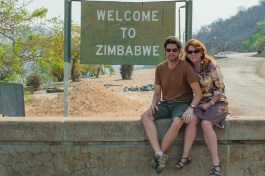 Mike and Nancy at the dam in Zimbabwe.