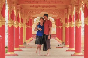 Mike and Nancy in Burma, now known as Myanmar.
