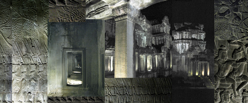 Angkor Watt by Night III (Cambodia) - archival inkjet print on cotton rag paper (photomontage) Image courtesy of Celia Pearson
