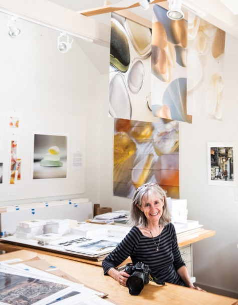 10/5/18: Photographer Celia Pearson at her home studio in Eastport. Photo by Alison Harbaugh