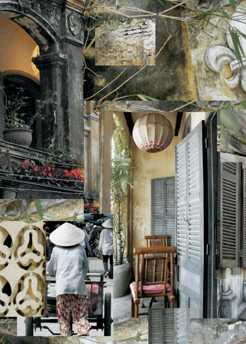 Lantern (Vietnam) - archival inkjet print on mulberry paper (photomontage) Image courtesy of Celia Pearson