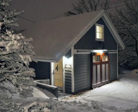 Celia's studio in the snow Image courtesy of Celia Pearson