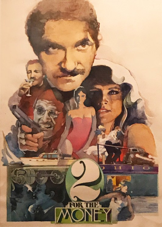 """Artwork done by Lee Bonner, poster for feature film """"2 For the Money"""" Courtesy Photo"""
