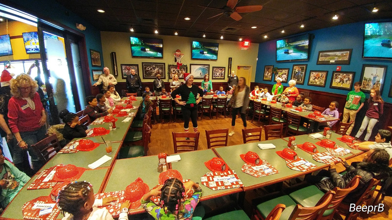 Kids wait for Santa to arrive during the Bykes 4 Tykes event at the Greene Turtle, Annapolis. Courtesy photo from Bridgett Rheam