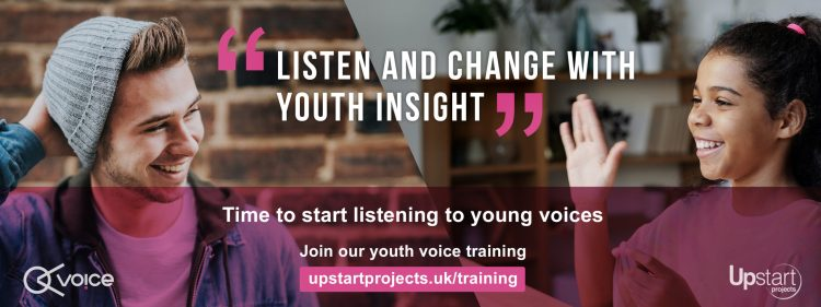 Upstart projects Youth Voice Training - book now