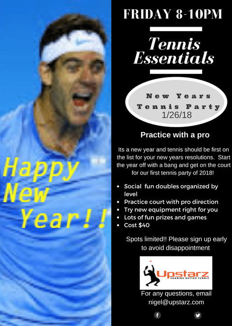 New Years Tennis Party
