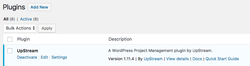 Download UpStream extensions