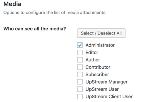 upstream media library