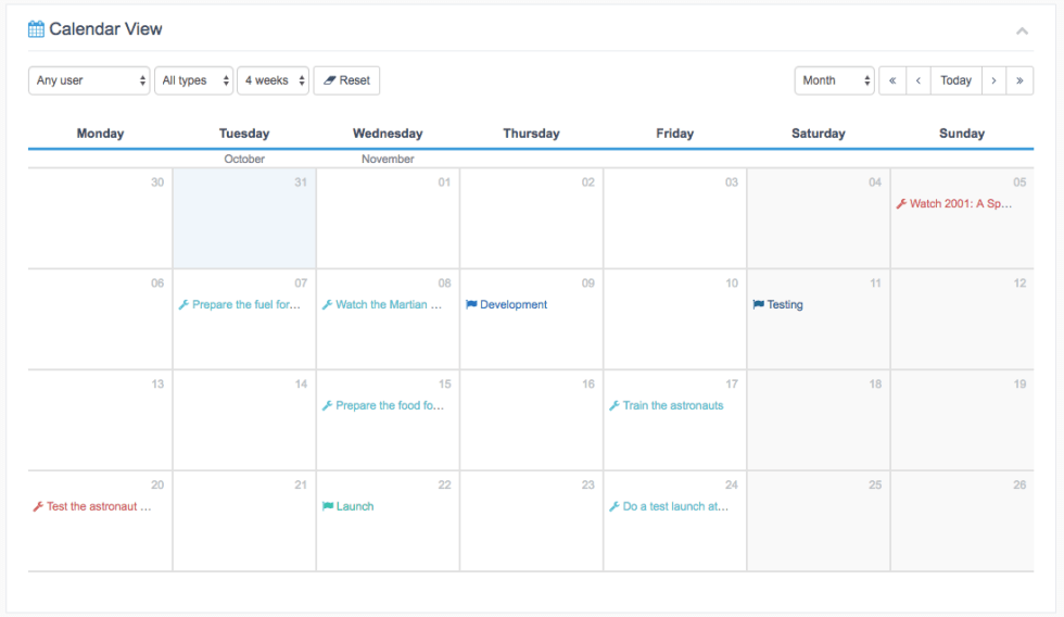 Calendar View default