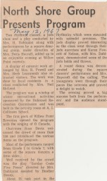 Duhamel Recreation Commission article Nelson Daily News May 12 1967 -P. Ormond files