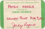 Duhamel Recreation Commission swimming lessons certification, 1971 - Patsy Ormond Files