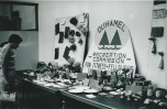 Duhamel Recreation Commission emblem and slogan at craft display, 1960's Patsy Ormond Files