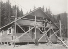 Construction of the Question Mark Store building, 1948 photo credit - Patsy Ormond