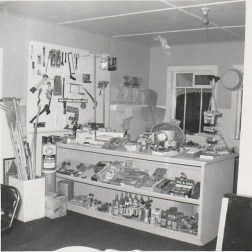 Hardware available at the Question Mark Store, 1959 photo credit - Patsy Ormond
