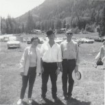 Centennial 1967 Fair at Shannon's field  Edna and Earl Shannon, Clarence Shannon -P. Ormond files